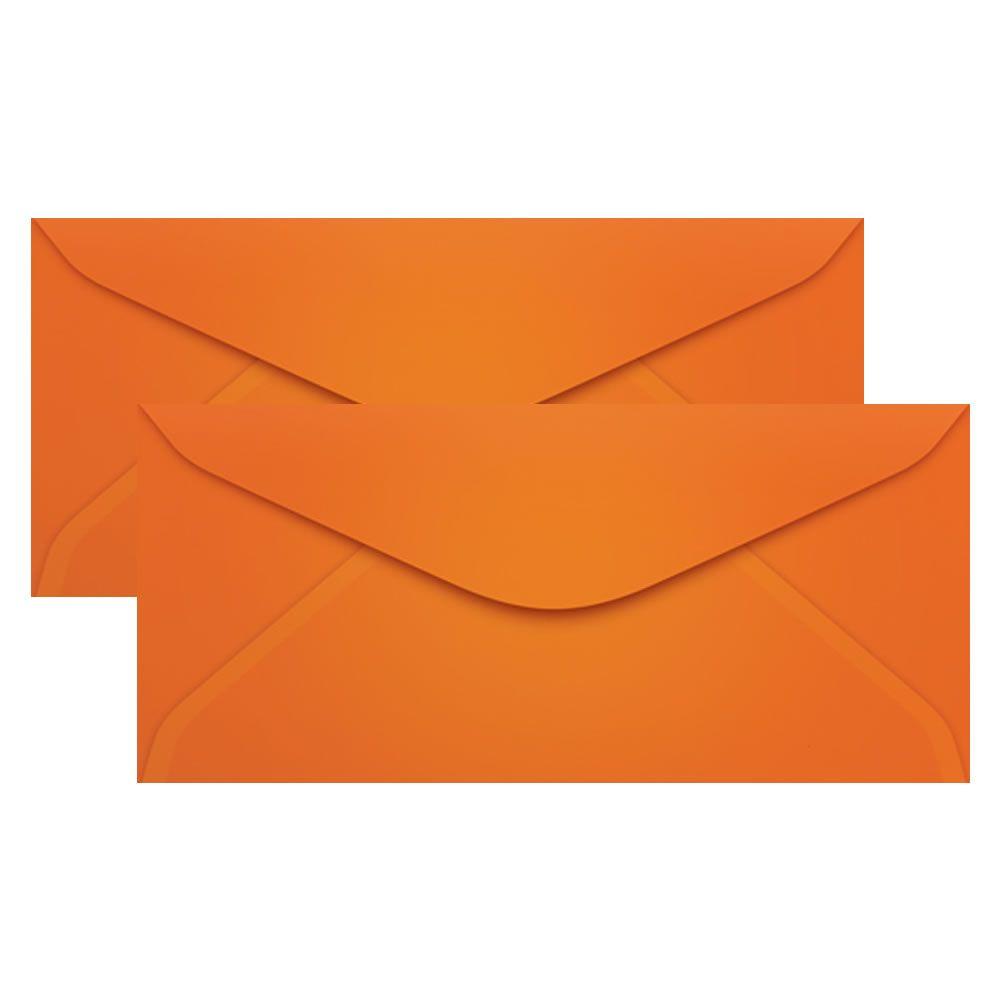 Envelope para Convite Laranja Cartagena 114x229mm Scrity 100un