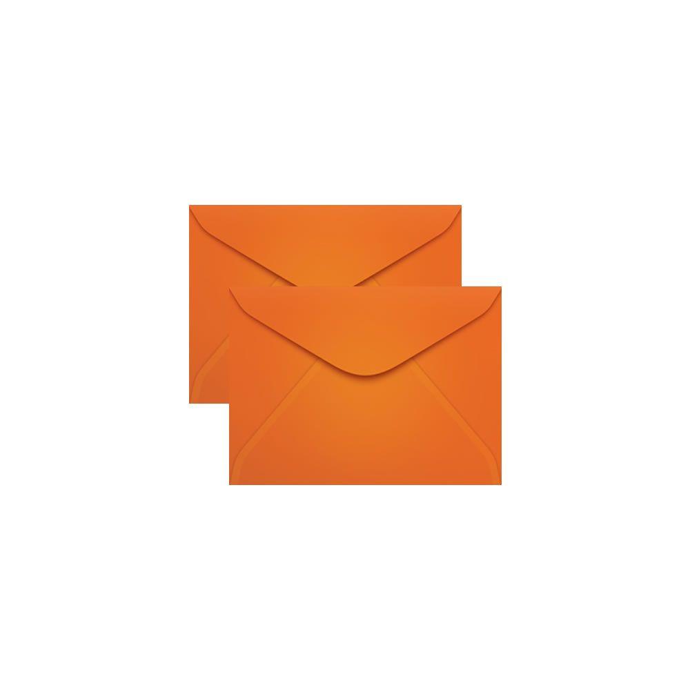 Envelope para Convite Laranja Cartagena 72x108mm Scrity 100un
