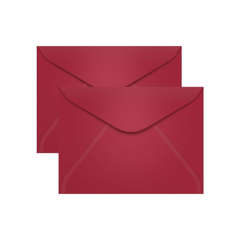 Envelope para Convite Vermelho Bordô Pequim 114x162mm Scrity 100un