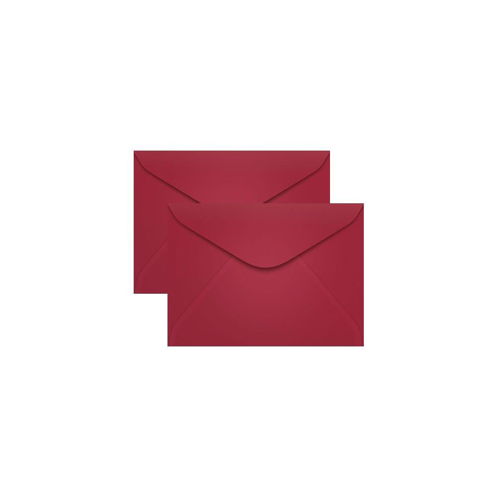 Envelope para Convite Vermelho Bordô Pequim 72x108mm Scrity 100un