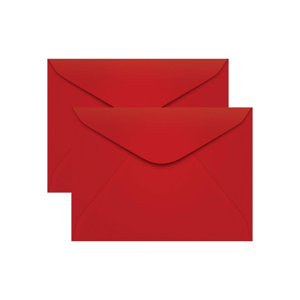 Envelope para Convite Vermelho Tóquio 114x162mm Scrity 100un