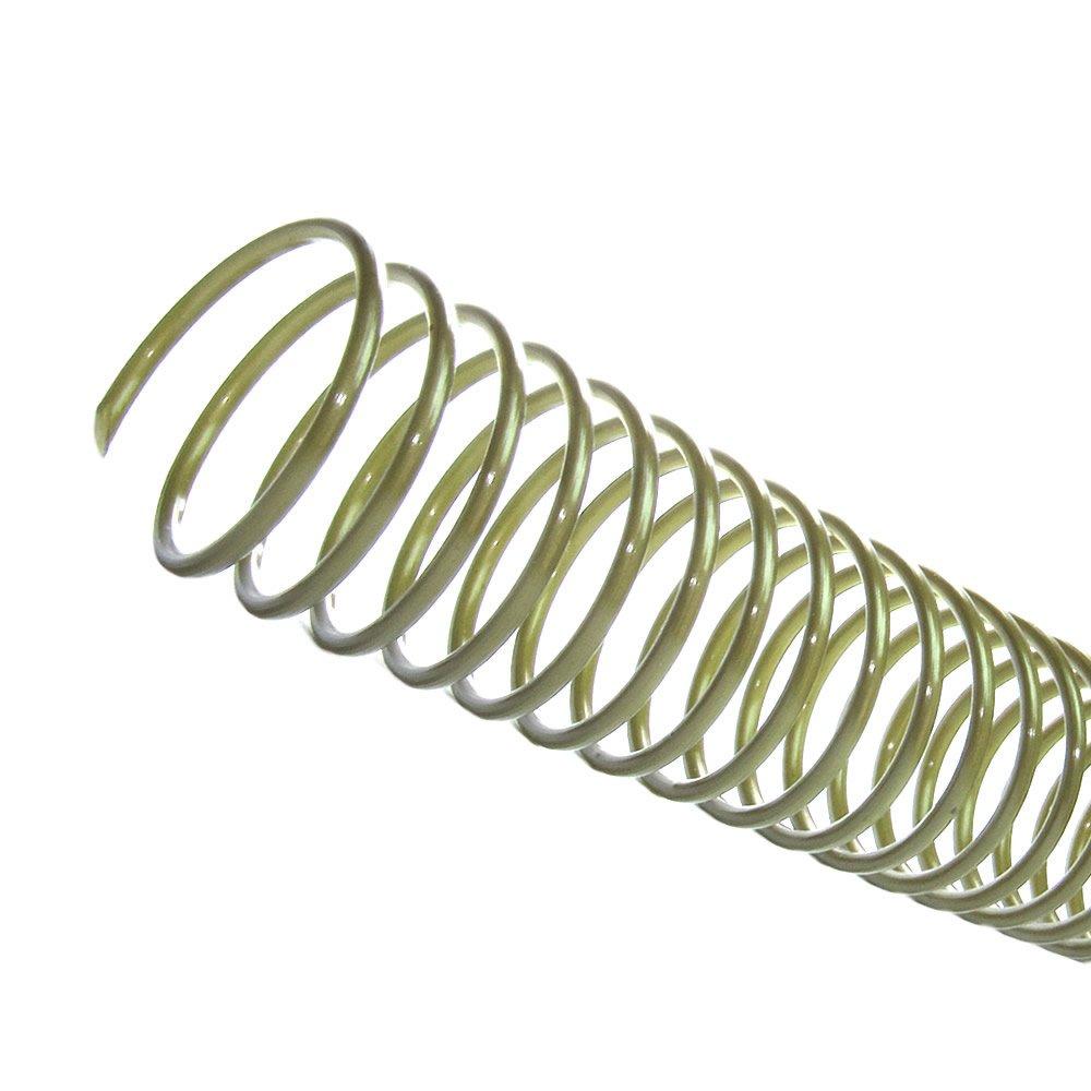Espiral para Encadernação Bronze 12 mm para 70 folhas 100un