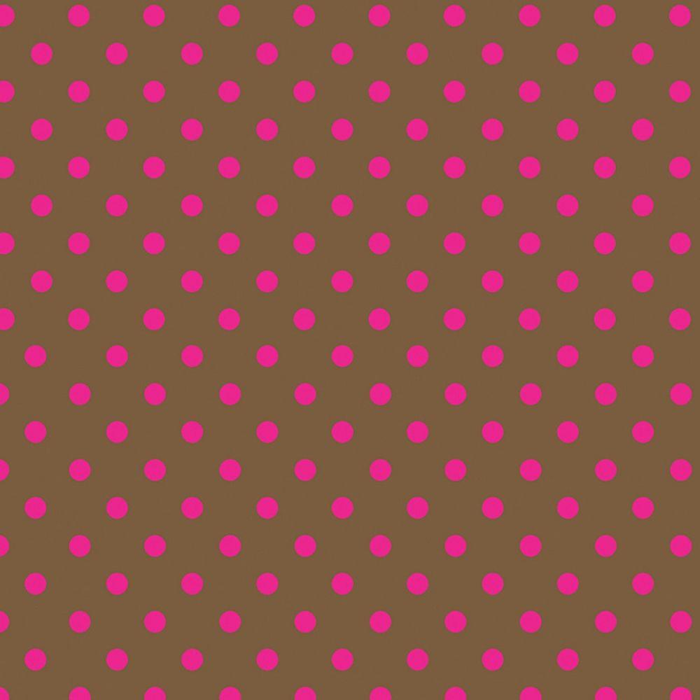 Folha de EVA Poá Marrom/Rosa 40x48 1,5mm pacote com 10 un
