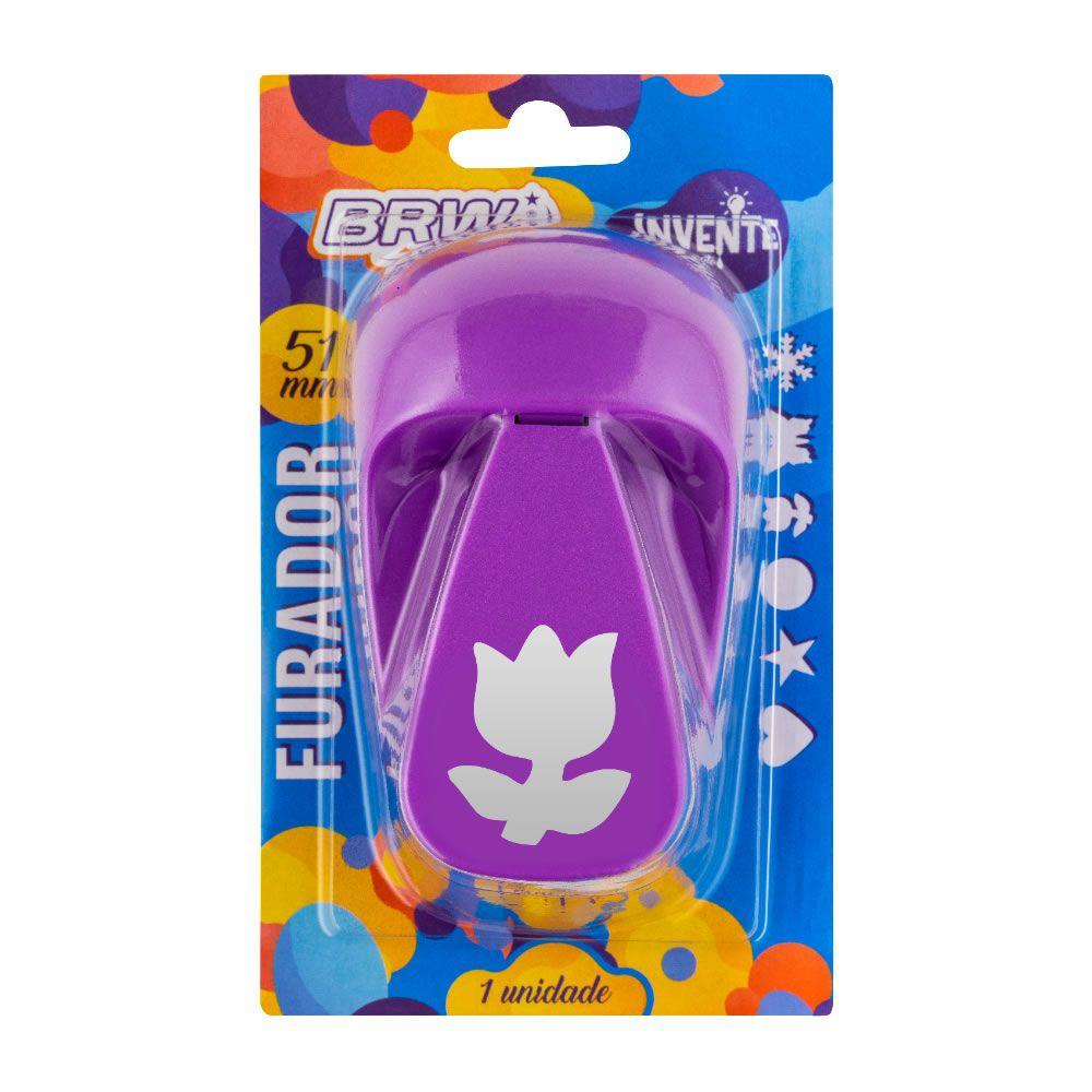 Furador de EVA e Papel Scrapbook Tulipa Grande 51mm 01 un