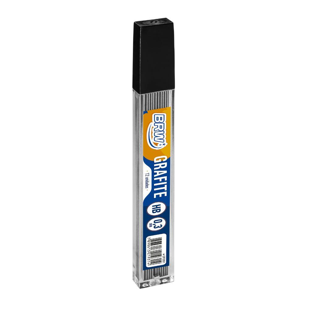 Grafite 0.3mm HB com 12 Unidades BRW - Caixa c/ 12 tubos