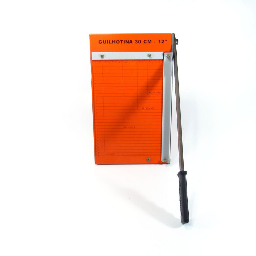 Guilhotina de papel manual A4 30cm em aço Marpax 12 Folhas