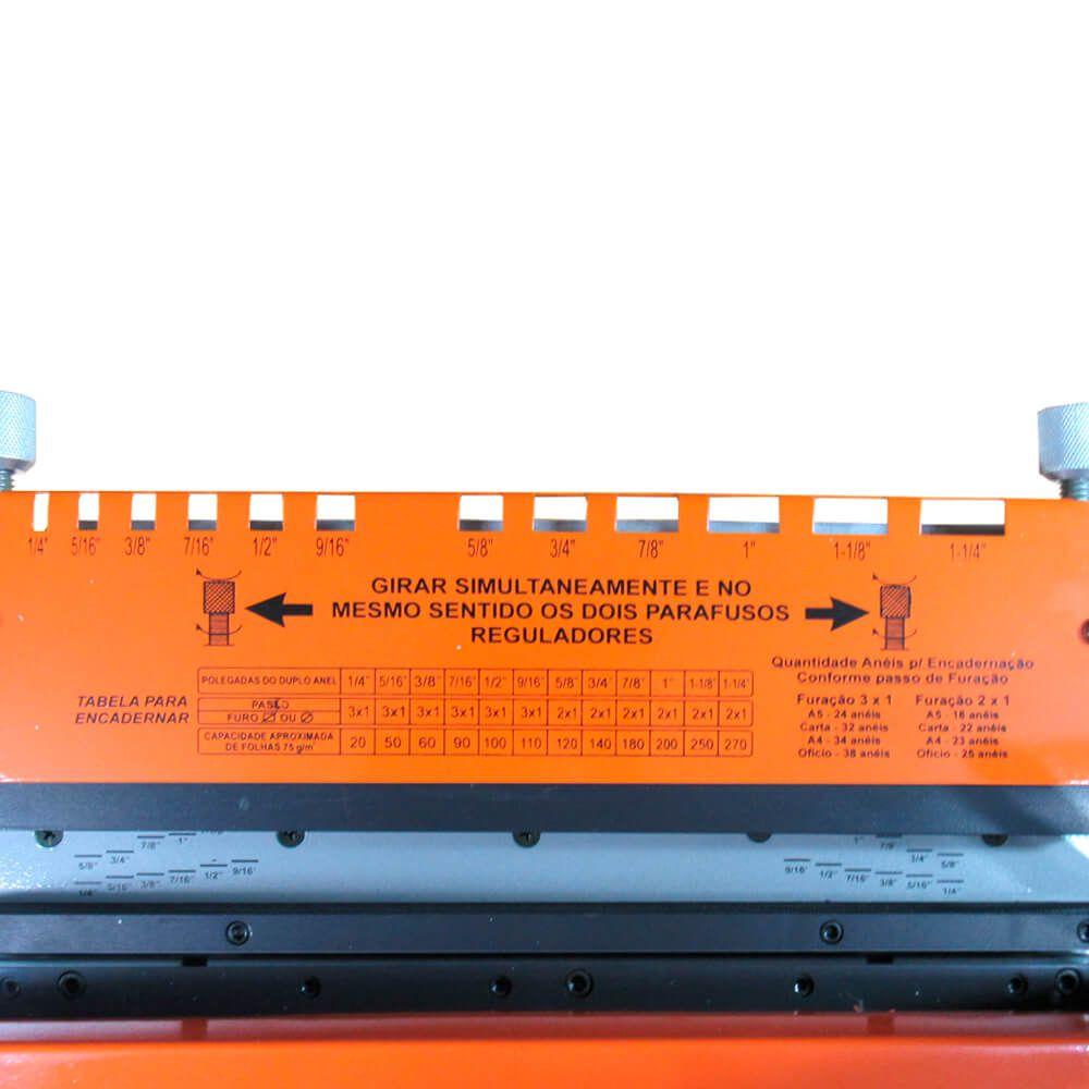 Kit Encadernação com wire-o passo 3x1 - Básico - 110v