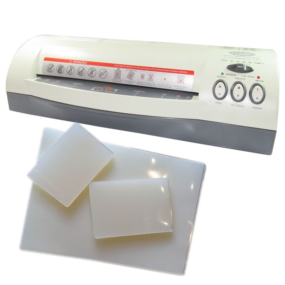 Kit Plastificação - Plastificadora Menno + 340 Polaseal 220V
