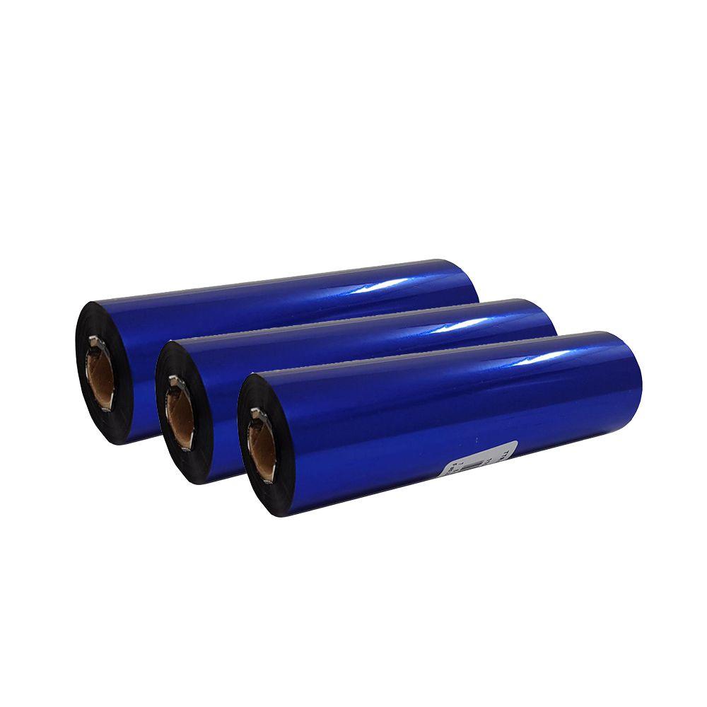 Kit Ribbon Cera Preto para impressora térmica 110x74mm 03un