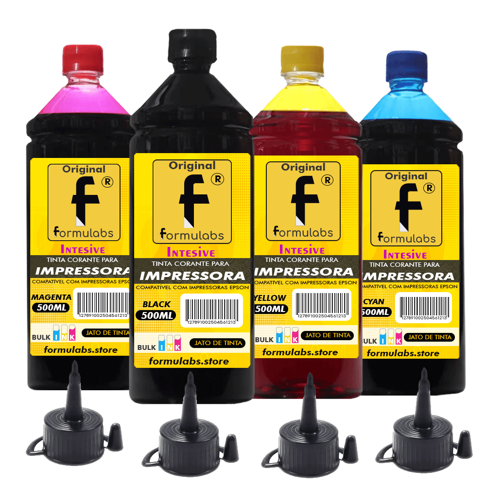 Kit tinta para impressora Epson Compatível Formulabs 4x500ml