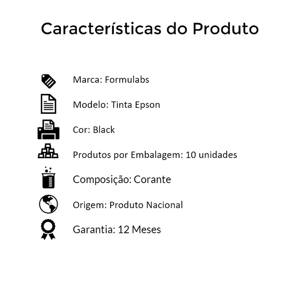 Kit Tinta para impressora Epson Compatível Formulabs Black 10 Litros