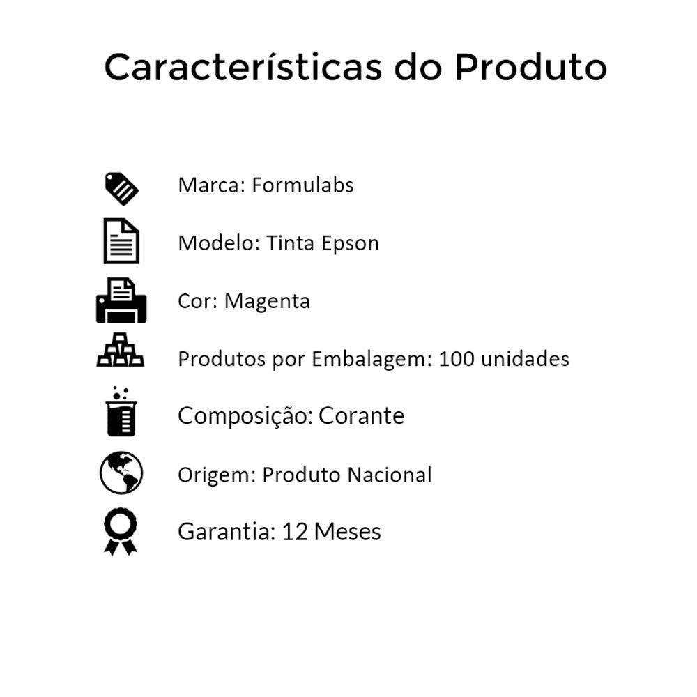 Kit Tinta para impressora Epson Compatível Formulabs Magenta 100 Litros