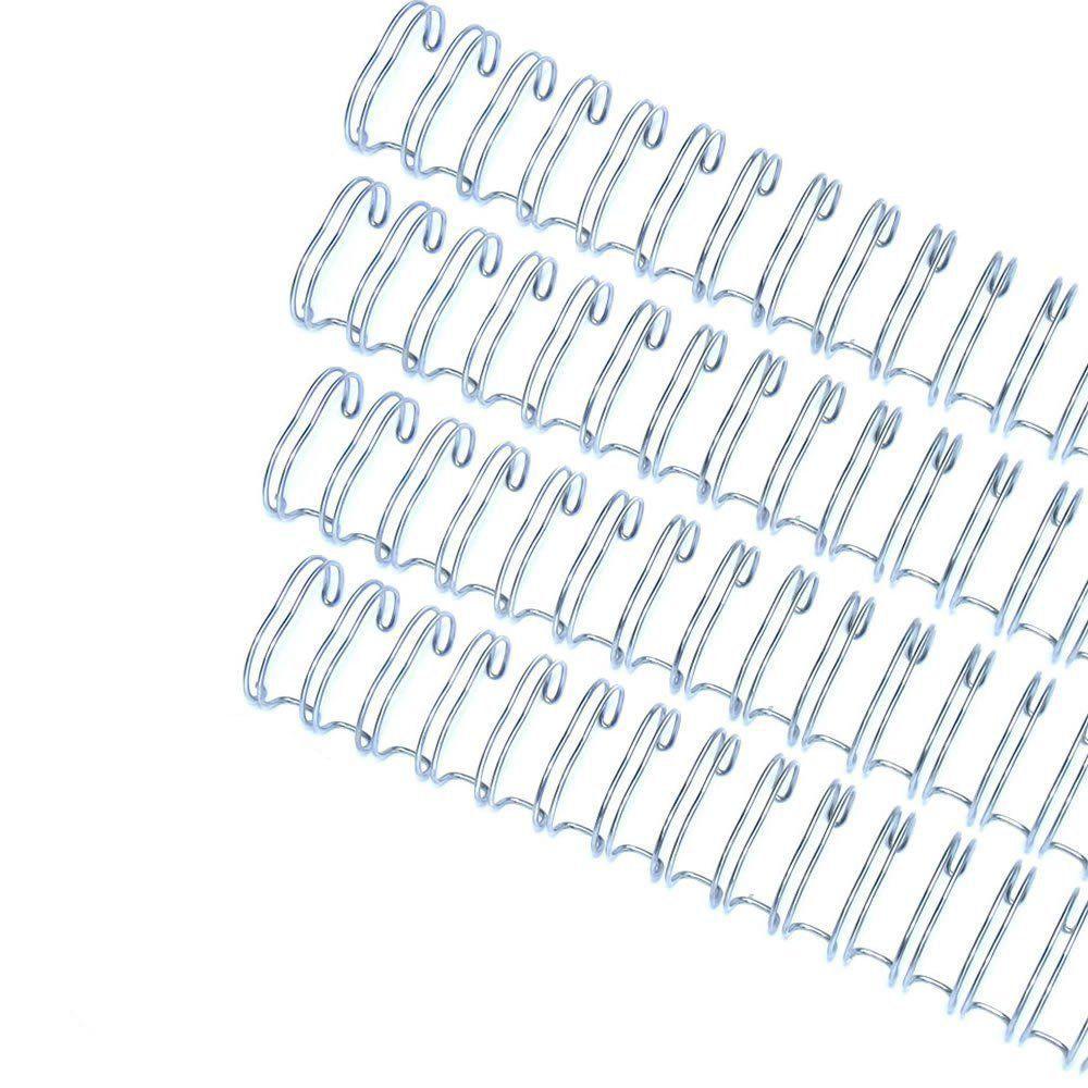 Kit wire-o 2x1 Prata 5/8 - 3/4 - 7/8 - 1 (25un cada) 100un