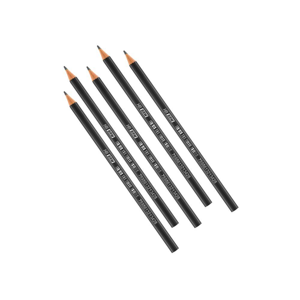 Lápis Preto em Resina Plástica Redondo HB caixa c/ 12un BRW