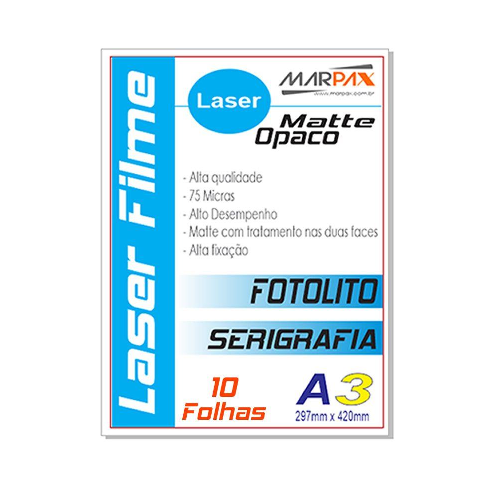 Laser Film A3 297x420mm Opaco Serigráfia e Fotolito 10fls