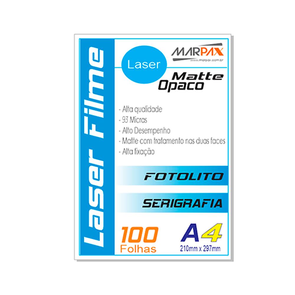 Laser Film A4 210x297mm Opaco Serigráfia e Fotolito 100fls