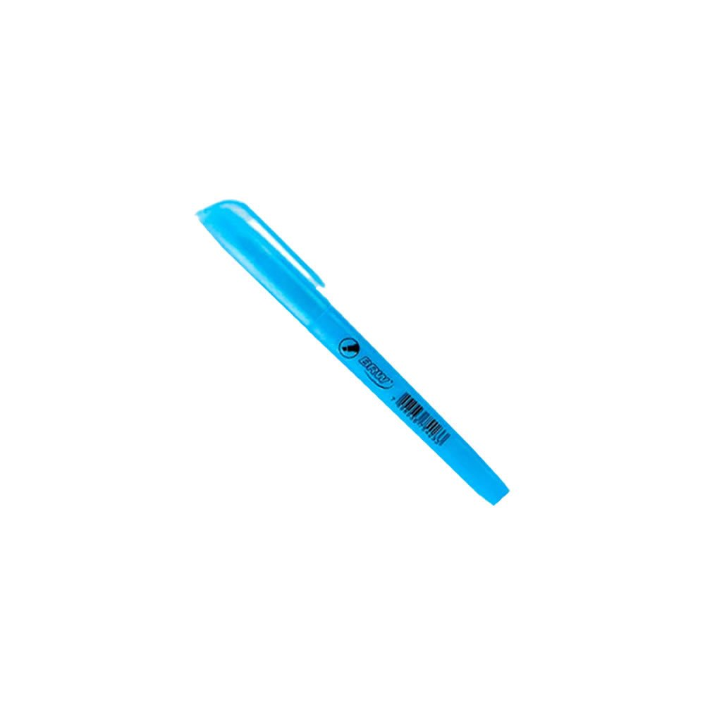 Marca Texto Azul Fluorescente chanfrado BRW 01un