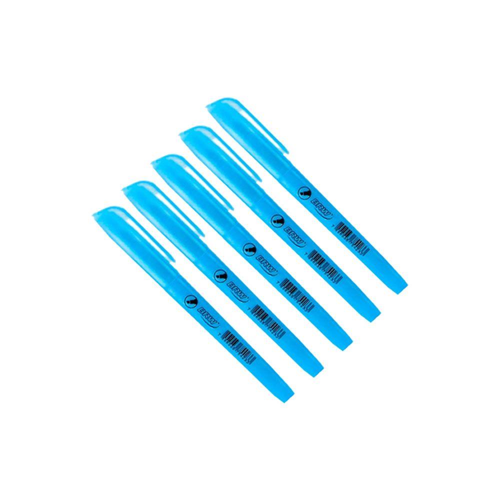 Marca Texto Azul Fluorescente chanfrado BRW 12un