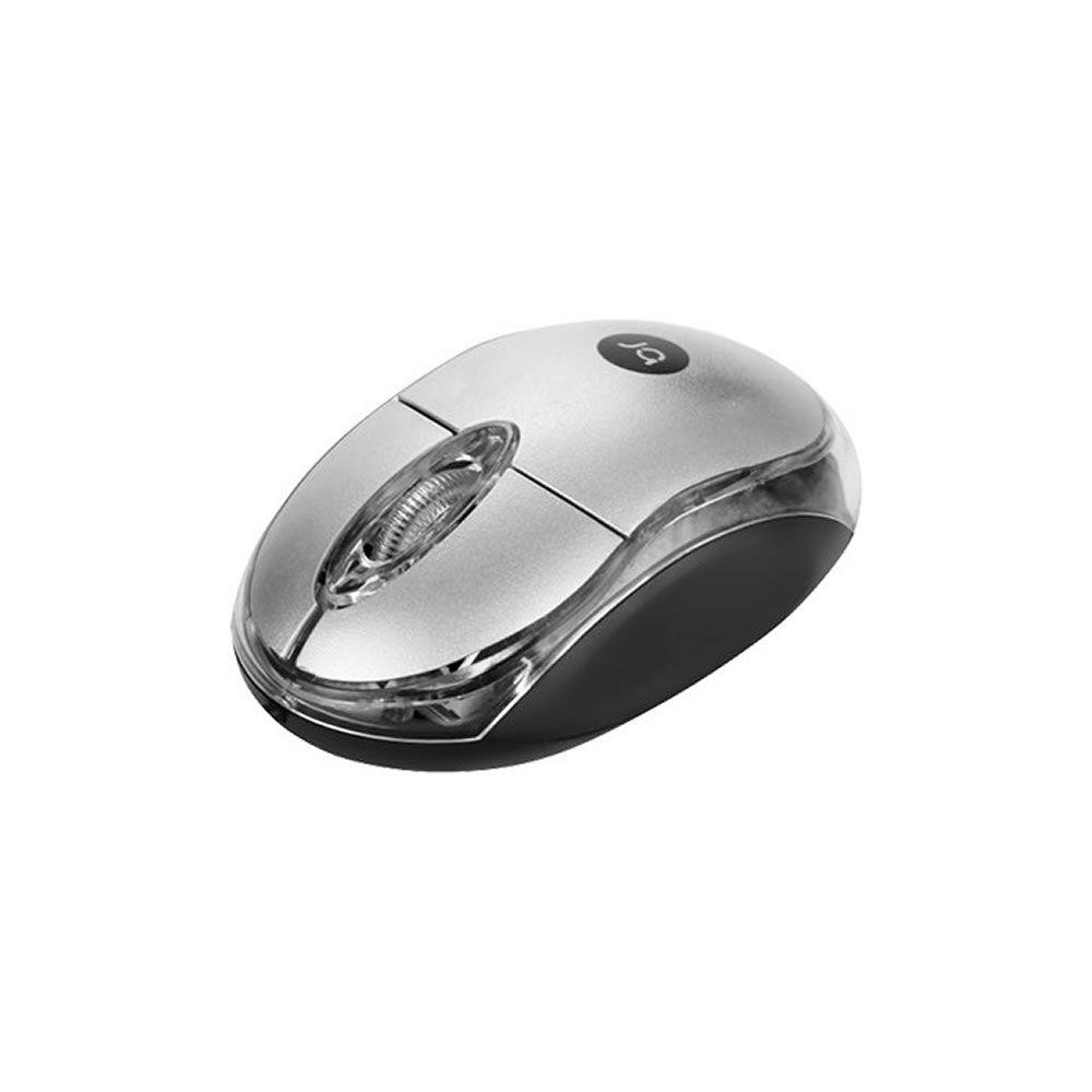 Mouse sem Fio Nano Receptor USB Prata/Preto Bright 1un