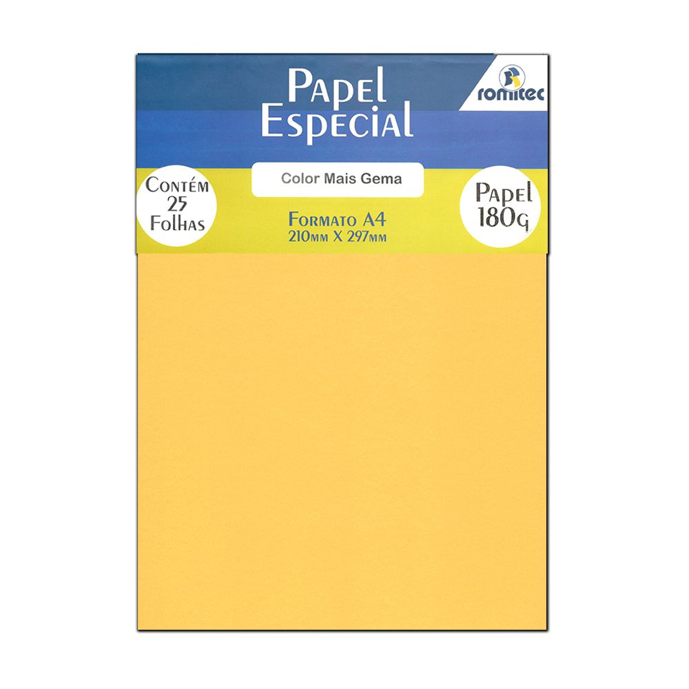 Papel Color Plus Gema A4 210x297mm 180...