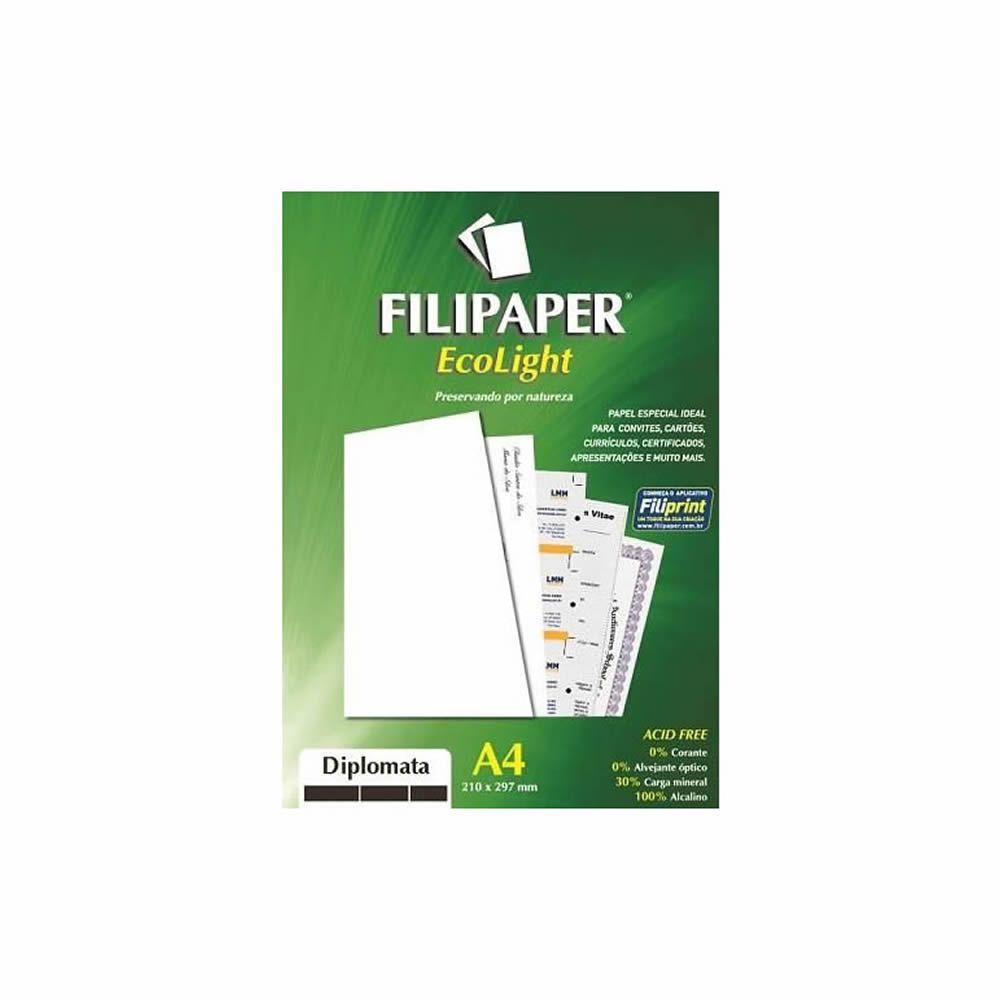 Papel Diplomata Ecolight A4 210x297mm 120g Filipaper 30Fls
