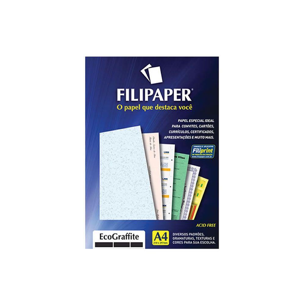 Papel Ecograffite Cristal A4 210x297mm 90g Filipaper 100Fls