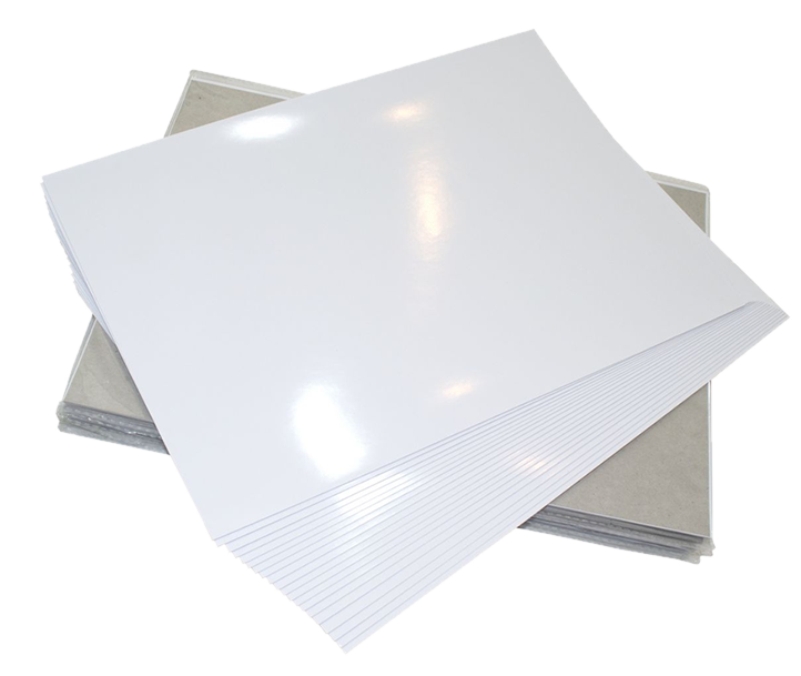 Papel Fotográfico Adesivo A4 RC 110g Glossy 210x297mm Marpax 10Fls