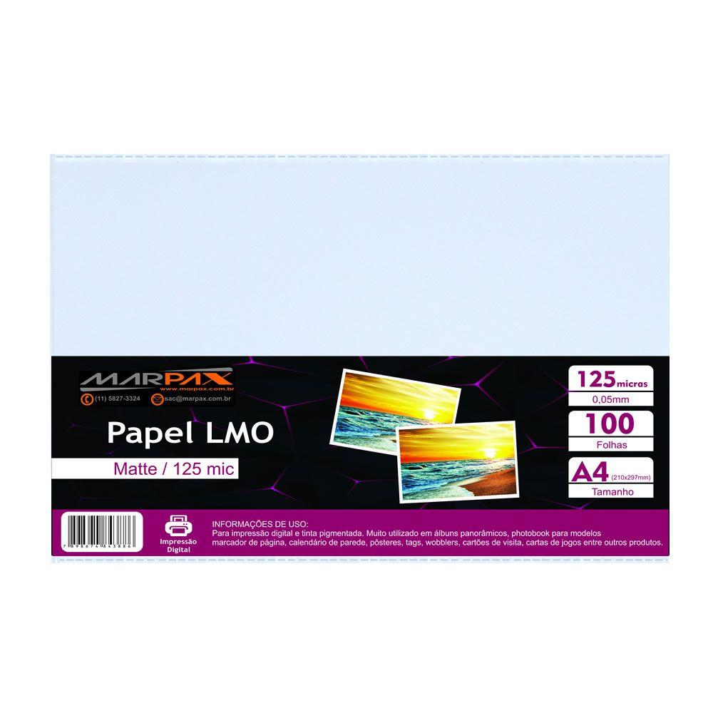 Papel LMO Matte 125 mic 210x297MM Marpax 100fls