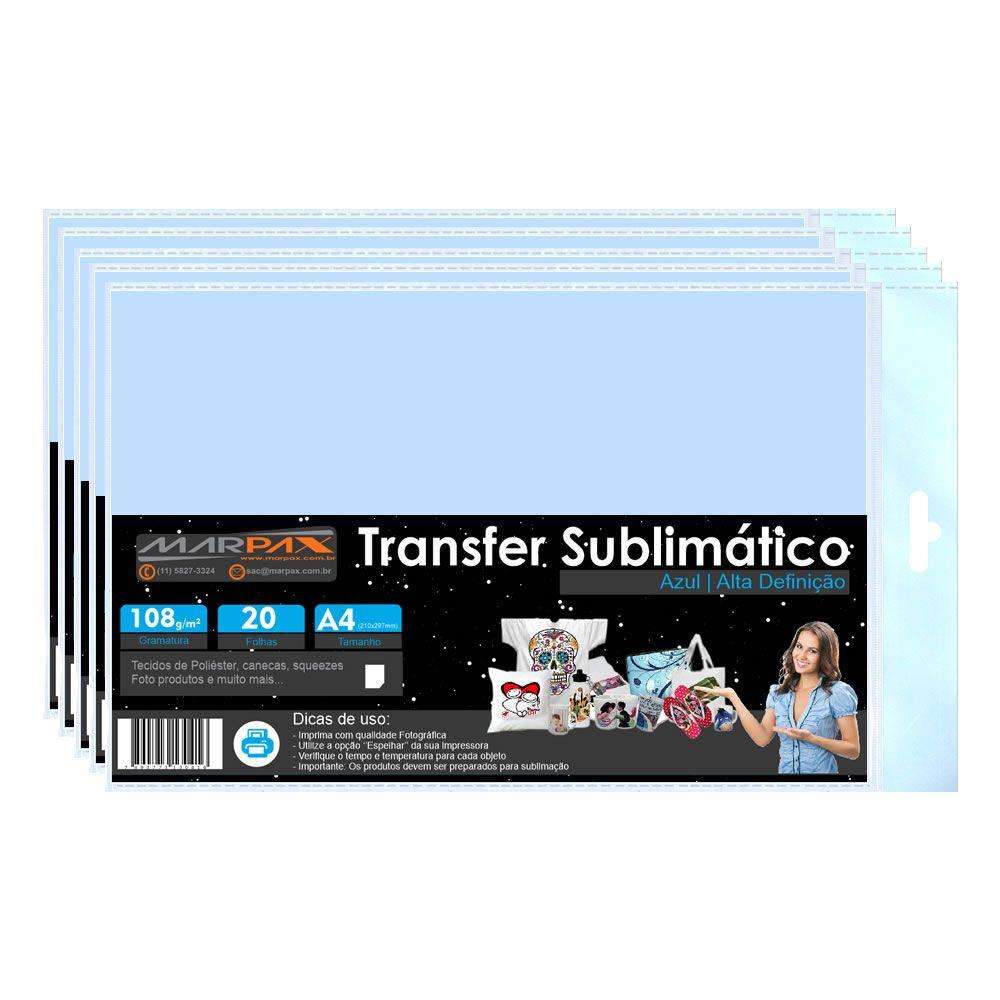 Papel para sublimação Azul A4 210x297mm Marpax 500 folhas