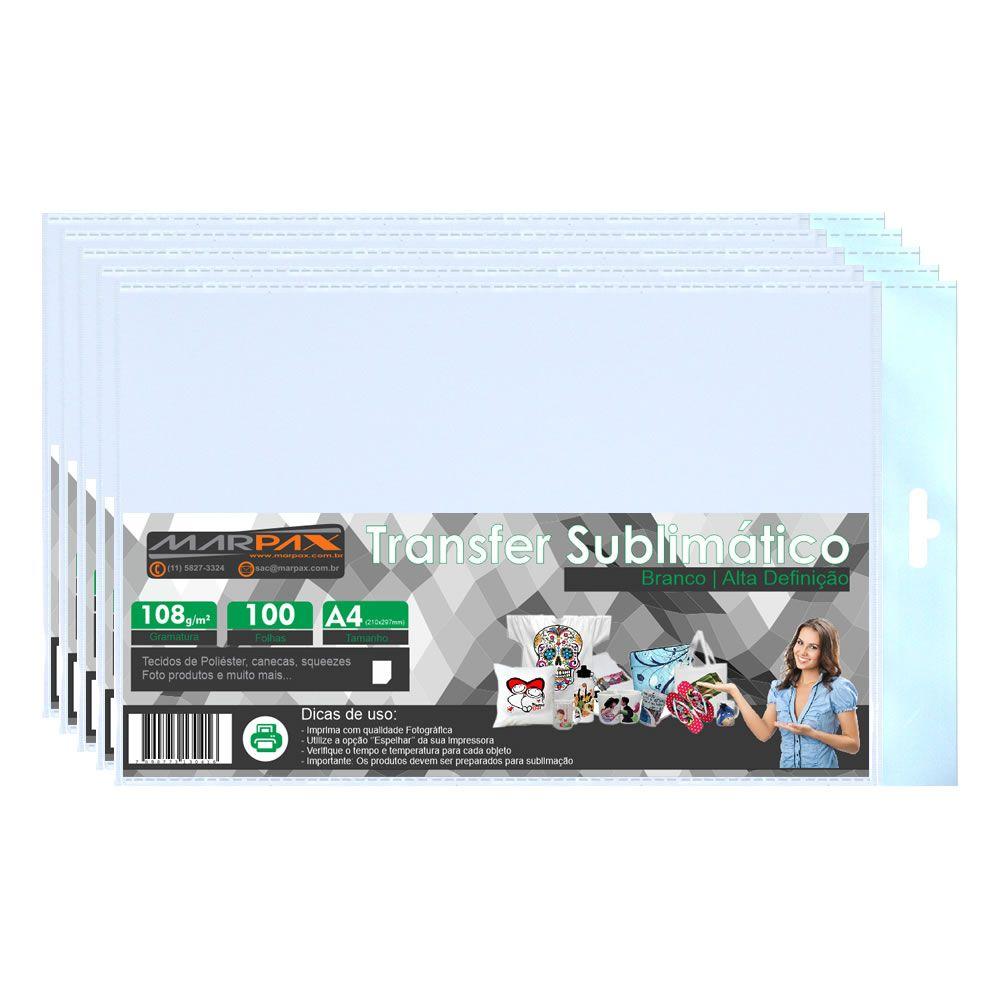 Papel para sublimação Transfer A4 210x297 108 Marpax 1000fls