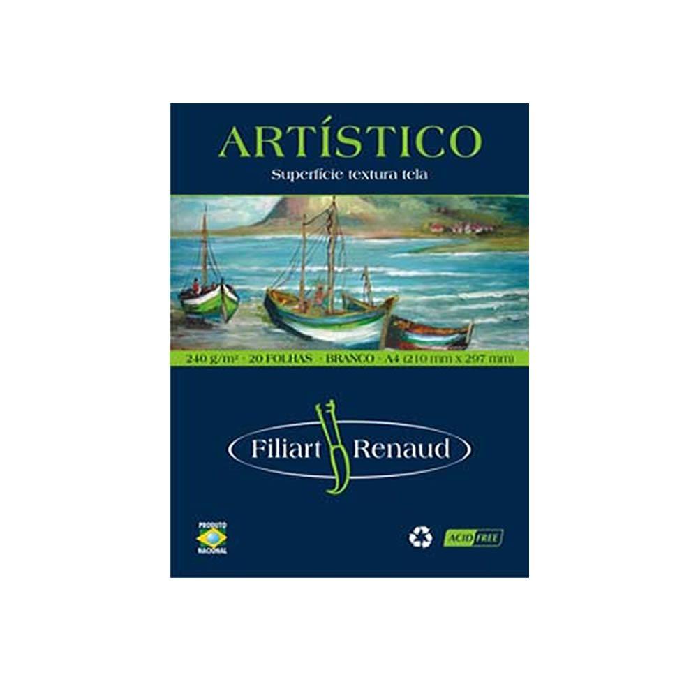 Papel Renaud Artístico Branco 240g A4 Filipaper 20 Fls