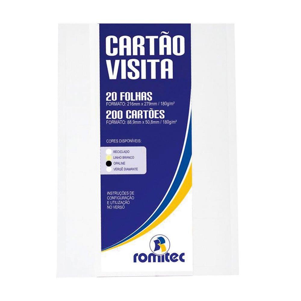 Papel Serrilhado para Cartão de Visita Opaline 180g/m² 20Fls
