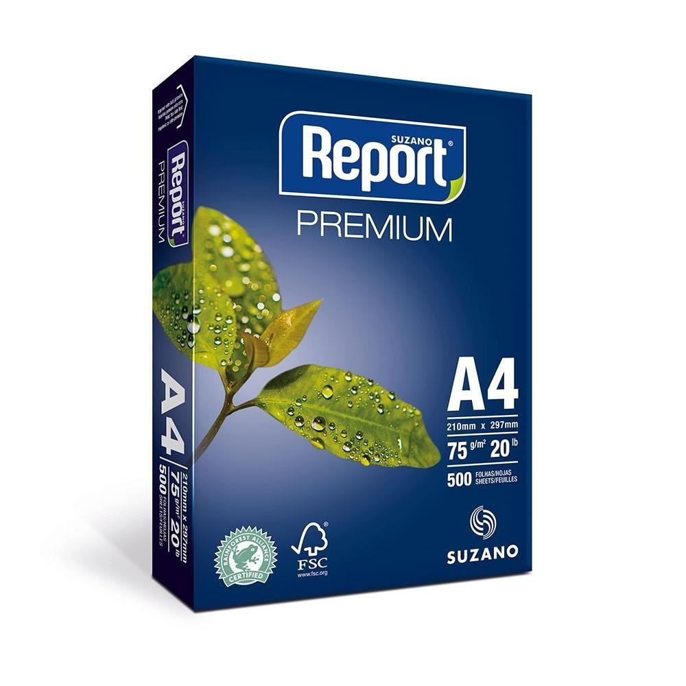 Papel Sulfite A4 75g para impressão Report Branco 500 fls