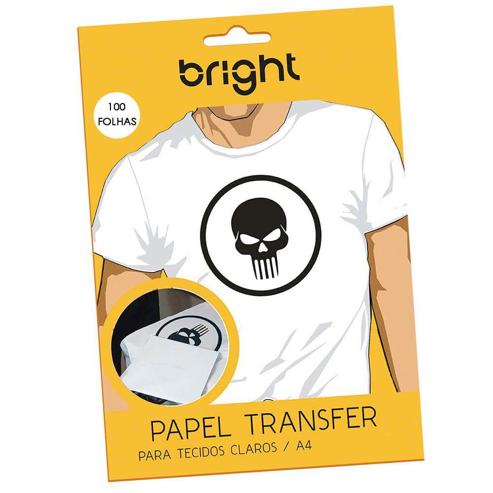 Papel Transfer para algodão A4 Tecidos Claros Bright 100 Fls