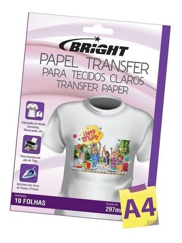 Papel Transfer para algodão A4 Tecidos Claros Bright 50Fls