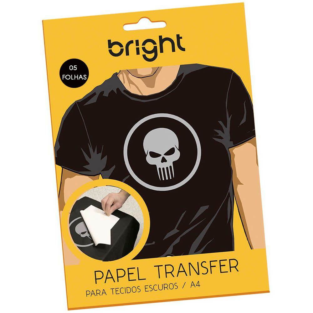Papel Transfer para algodão A4 Tecidos Escuros Bright 5 Fls