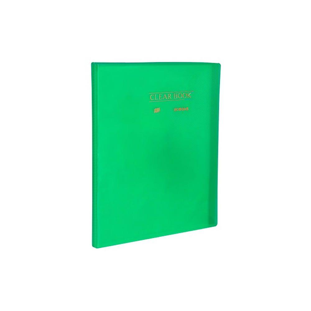 Pasta Catálogo A4 Clear Book Verde + 10 sacos Plastpark 01un