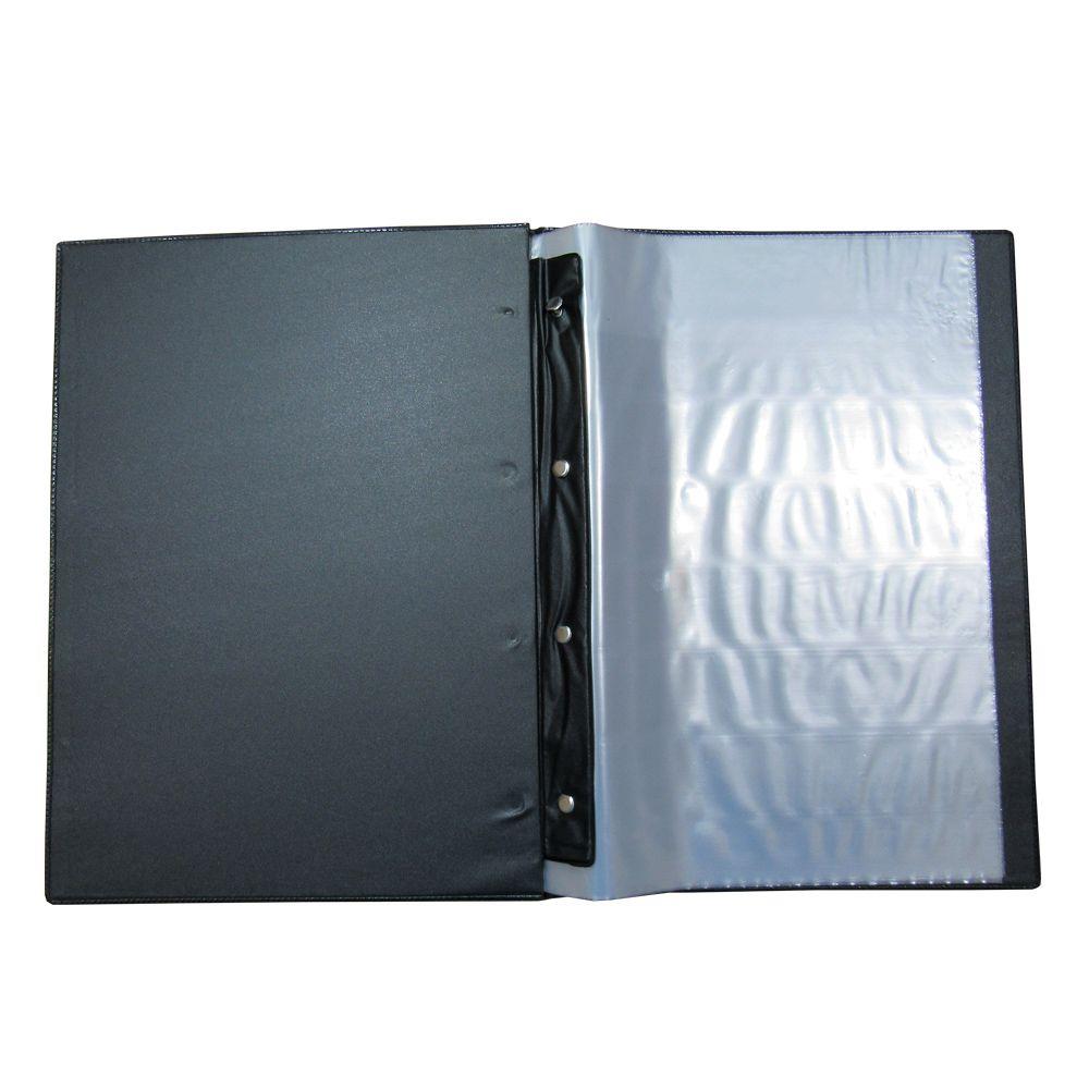 Pasta Catálogo A4/Ofício 245x335mm Preta 10 Envelopes 1un