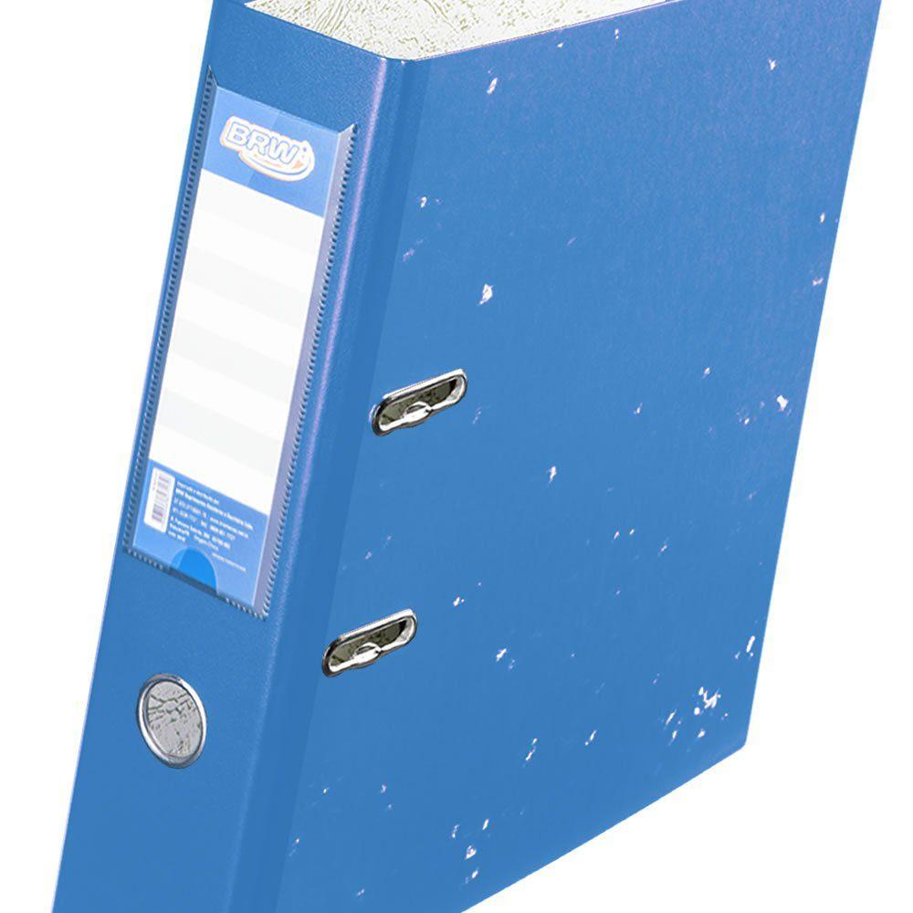 Pasta de arquivo AZ A4 e Ofício Lombada 7cm Azul BRW 01un
