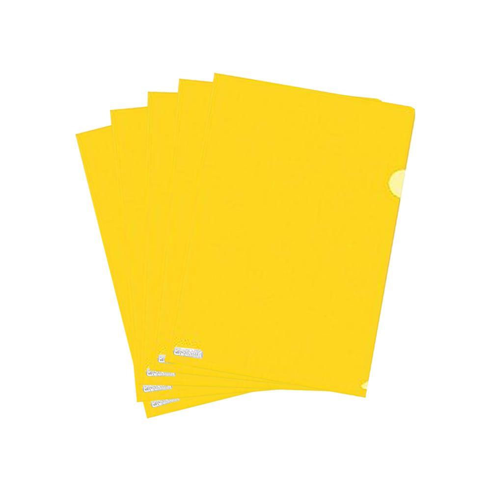 Pasta L A4 Plástica 218x306mm PP Amarelo Plastpark 10un