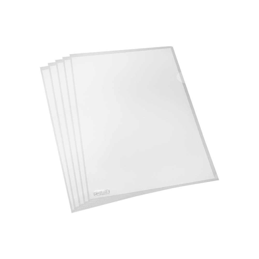 Pasta L A4 Plástica 218x306mm PP Transparente Plastpark 10un