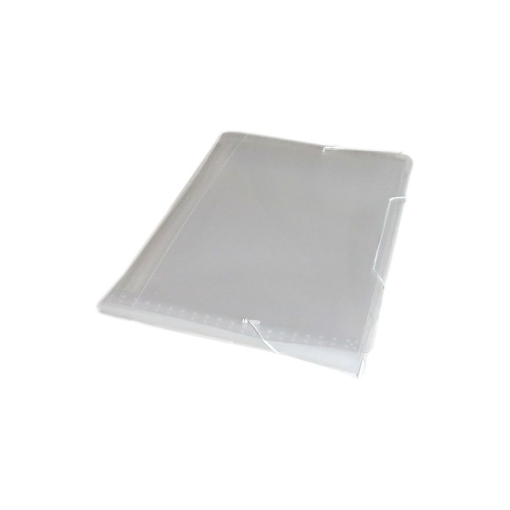 Pasta Sanfonada Plástica A4 3cm Cristal com 12 divisórias 01un