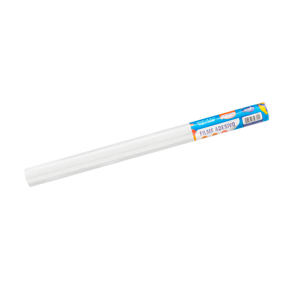 Plástico Adesivo Branco Brilho 80mic 45cmx1,5 metros BRW