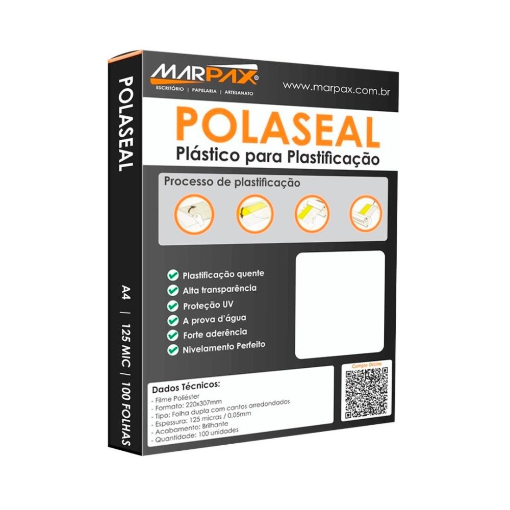 Plástico para plastificação A4 500un Polaseal  0,05 125mic