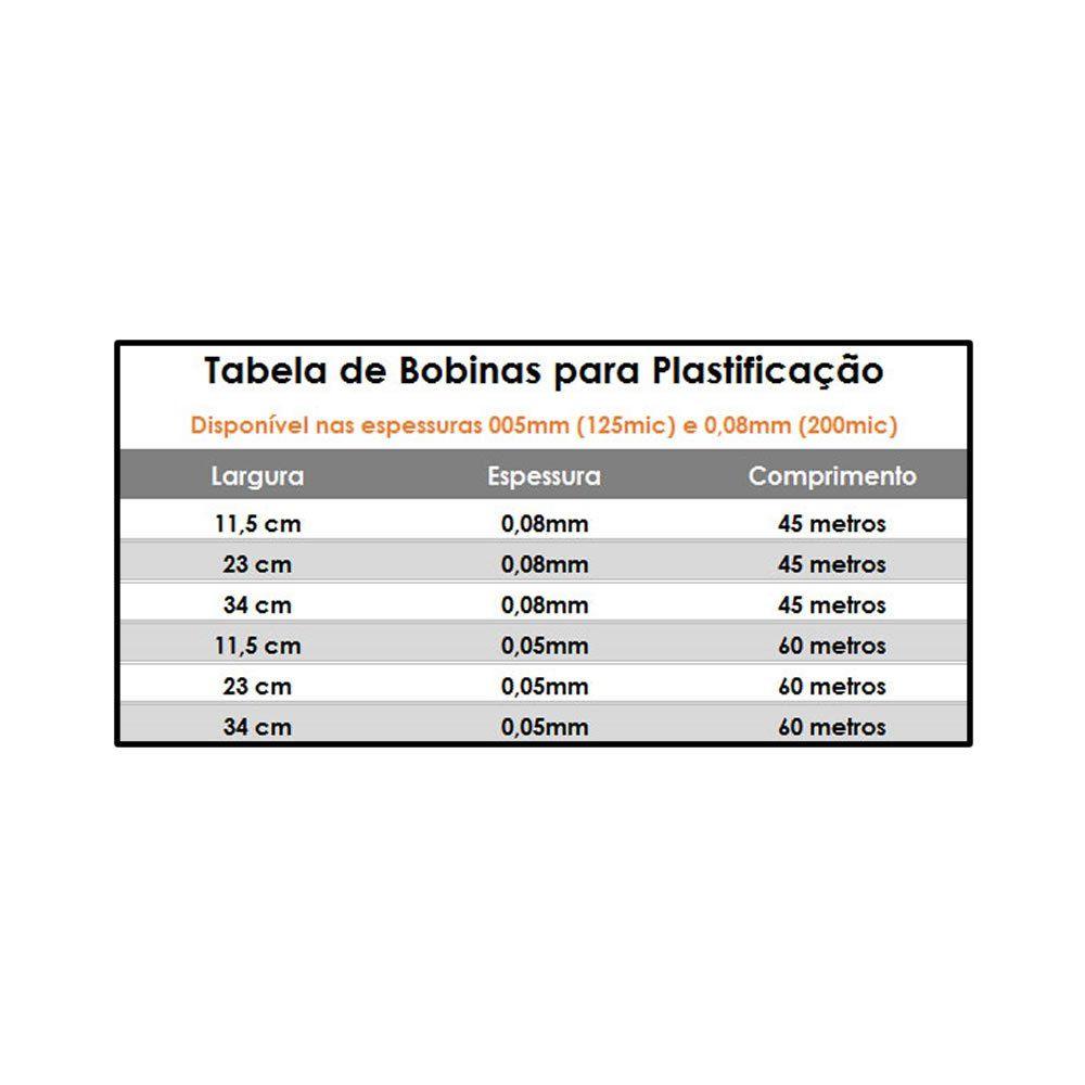 Polaseal Bobina para plastificação 230mmx0,03mmx75m 01un