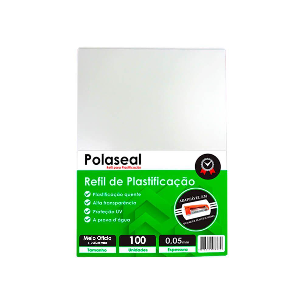 Polaseal para Plastificação Meio Ofício 170x226x0,05 100un