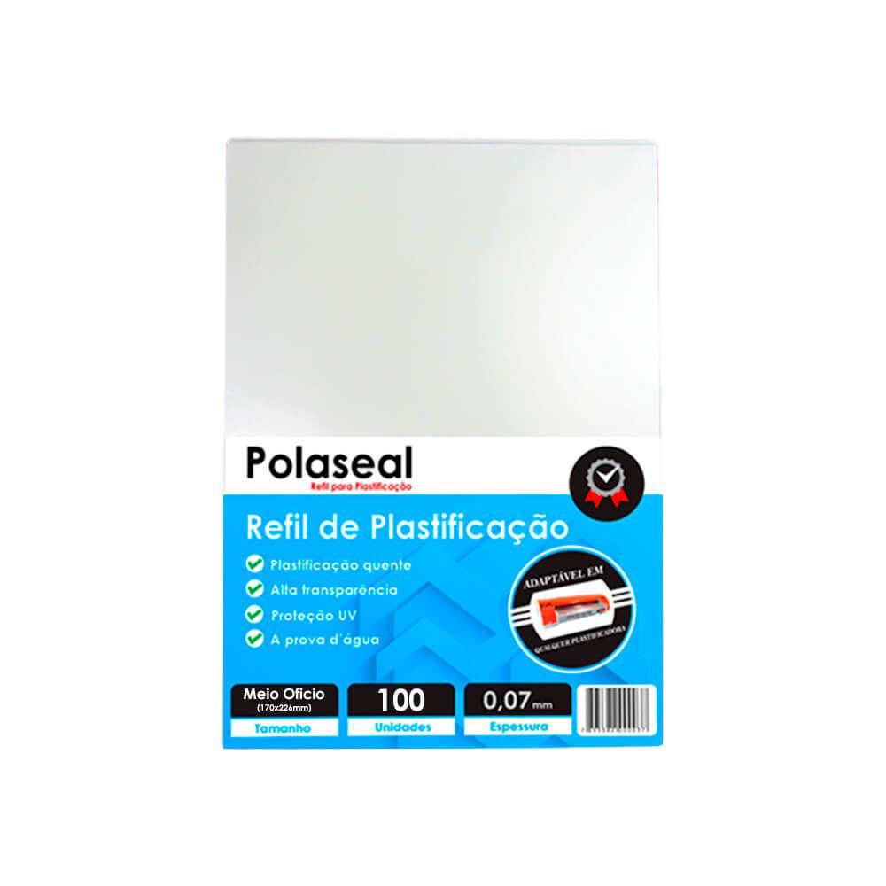 Polaseal para Plastificação Meio Ofício 170x226x0,07 100un