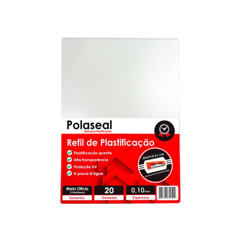 Polaseal para Plastificação Meio Ofício 170x226x0,10 20un