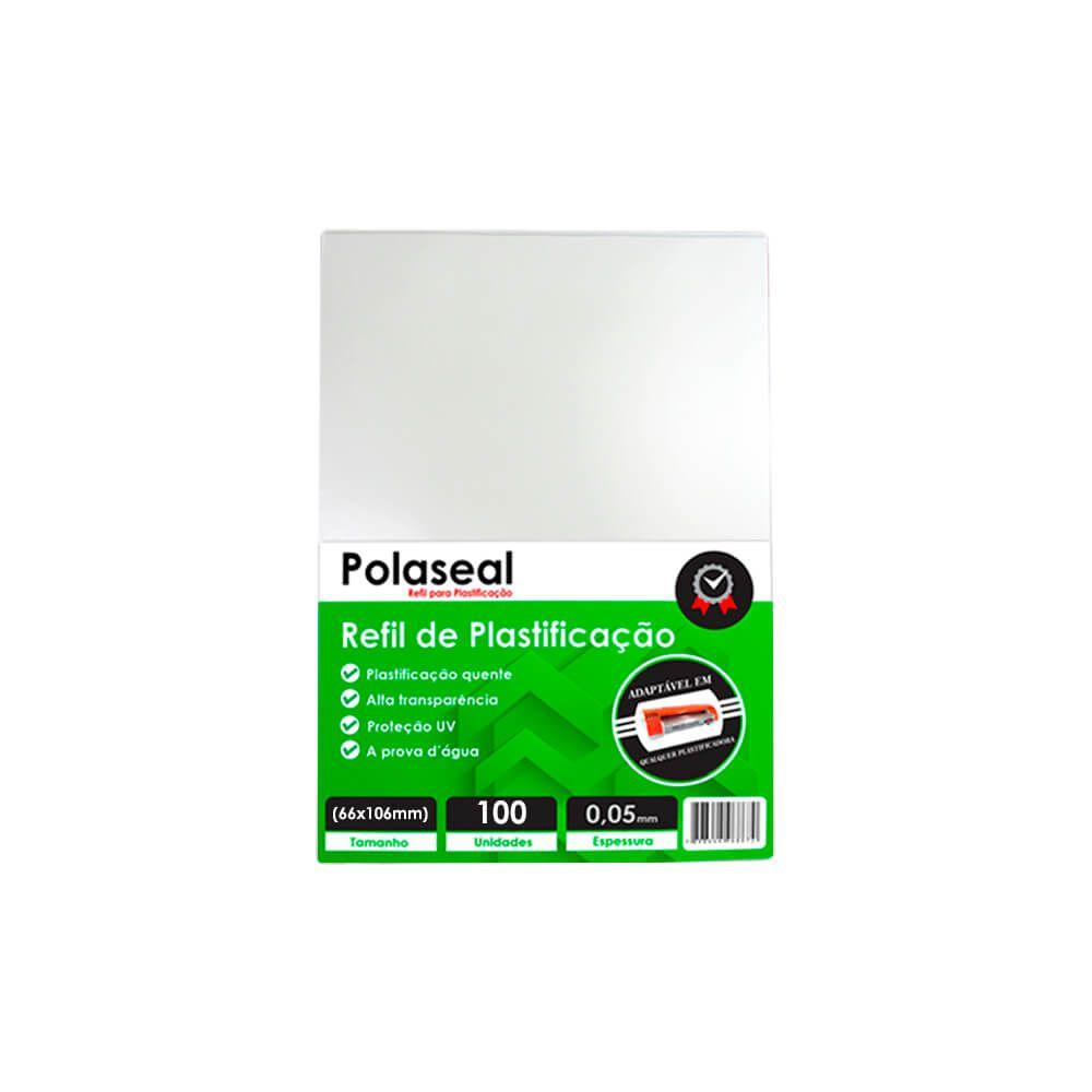 Polaseal Plástico para Plastificação 66x106x0,05mm 100un
