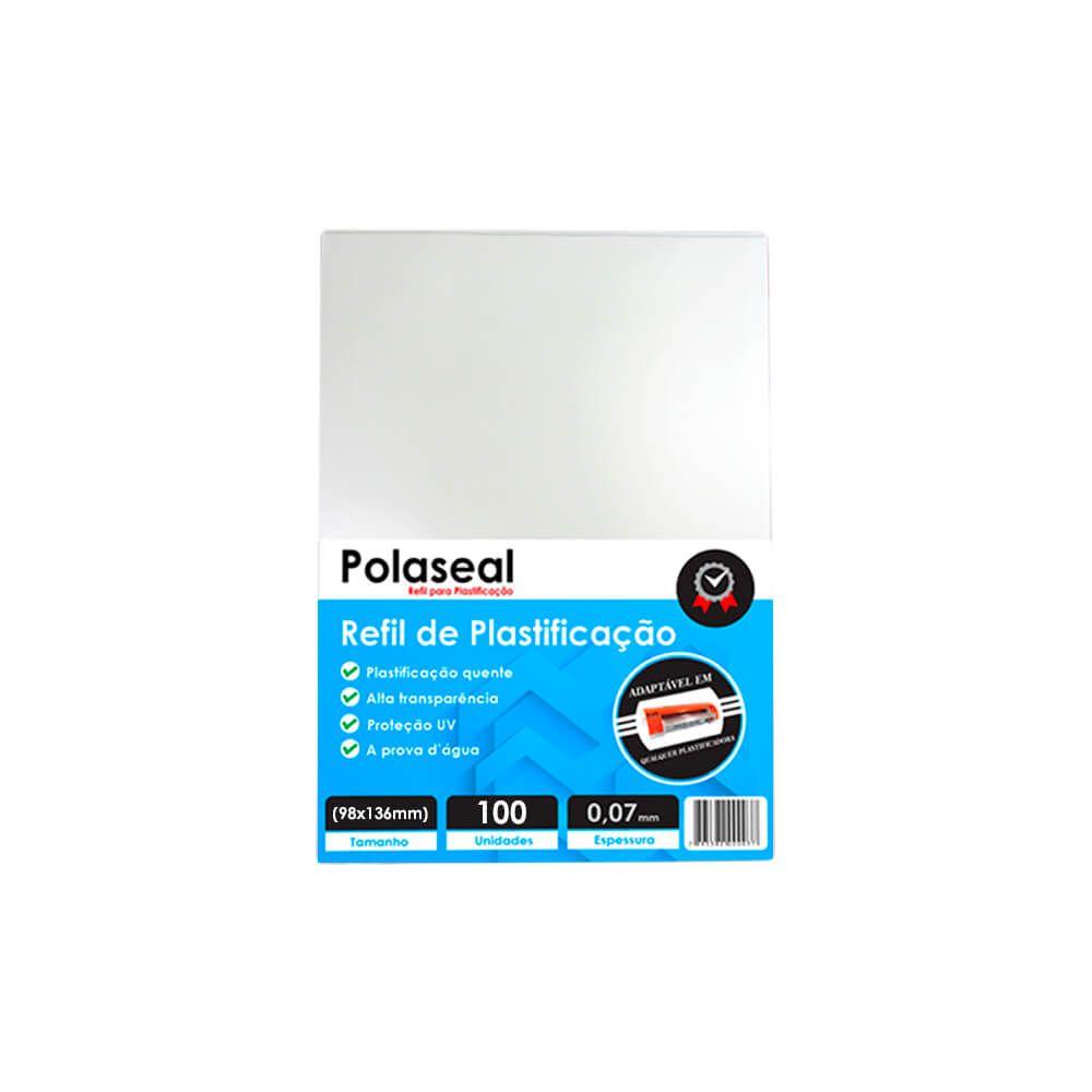 Polaseal Plástico para Plastificação 98x136x0,07mm 100un